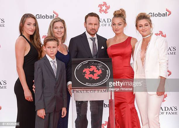 India Hart Rain Hart Julie Hart Corey Hart Dante Hart River Hart attend the 2016 Canada's Walk Of Fame Awards at Allstream Centre on October 6 2016...