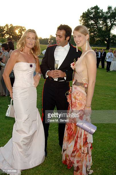 India Hicks Aatish Taseer and Lady Gabriella Windsor attend the Raisa Gorbachev Foundation Launch Party at Althorp House on June 10 2006 in...