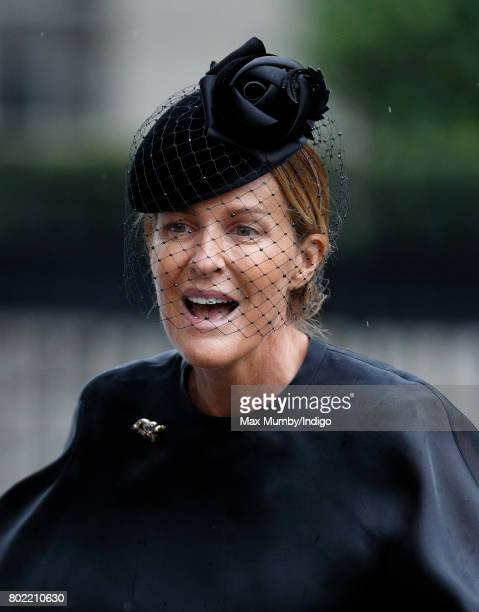 India Hicks attends the funeral of Patricia Knatchbull Countess Mountbatten of Burma at St Paul's Church Knightsbridge on June 27 2017 in London...