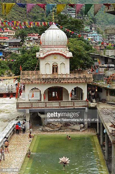 India Himachal Pradesh Manikaran Sri Guru Nanak Ji Gurdwara shrine along the Parvati river an important place of pilgrimage for Sikhs and Hindus