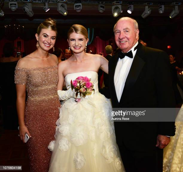 India Irving Miss Ireland Irving and Pete Irving attend The International Debutante Ball at The Pierre Hotel on December 29 2018 in New York City