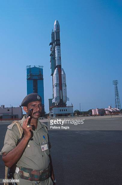 India is ready to launch its GSLV rocket into space Its test flight had been announced in July 2000