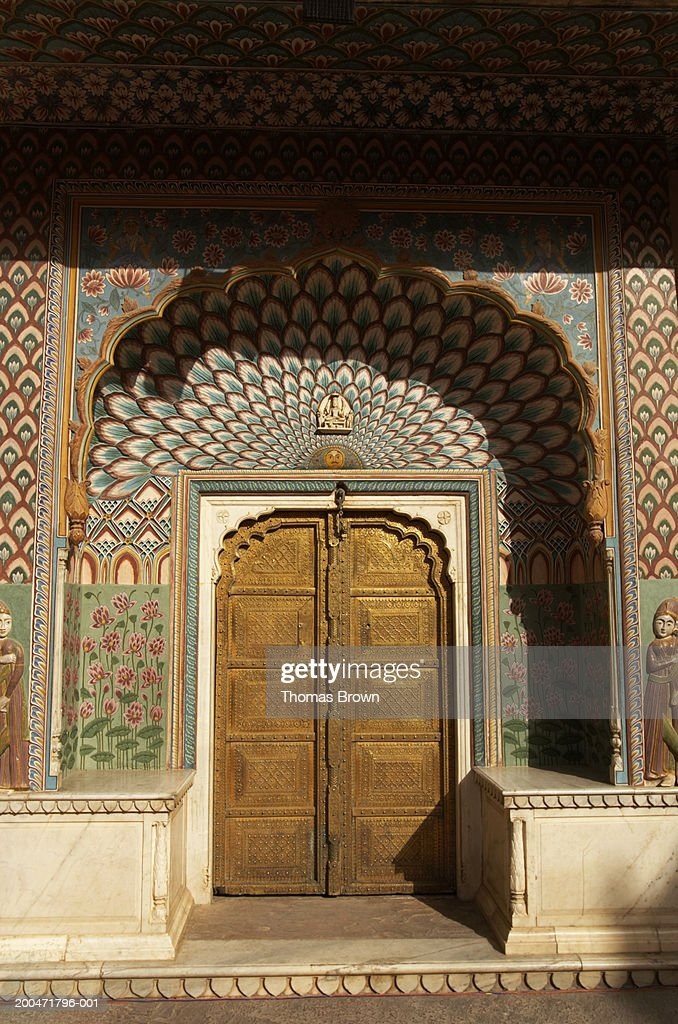 India Jaipur City Palace Peacock Gate Decorated Arch Door Surround ...