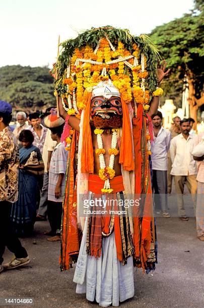 India Karnataka Mysore Dussera Festival Somana Kunitha Temple Ritual Dance
