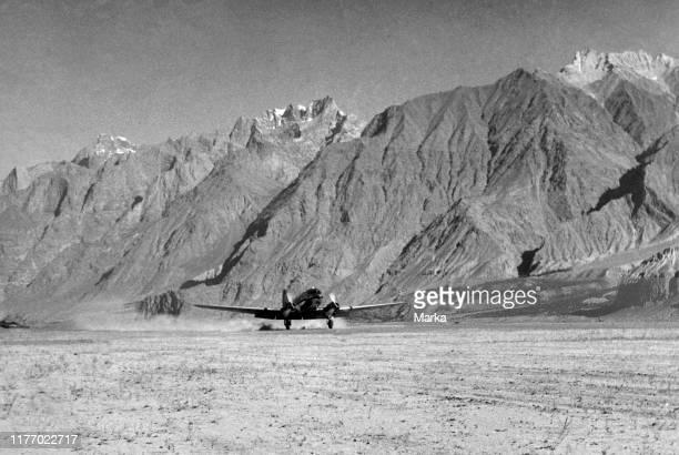 India. Kashmir. Landing at Skardu. 1957.
