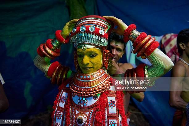 India, Kerala, Kannur, Teyyam ceremony