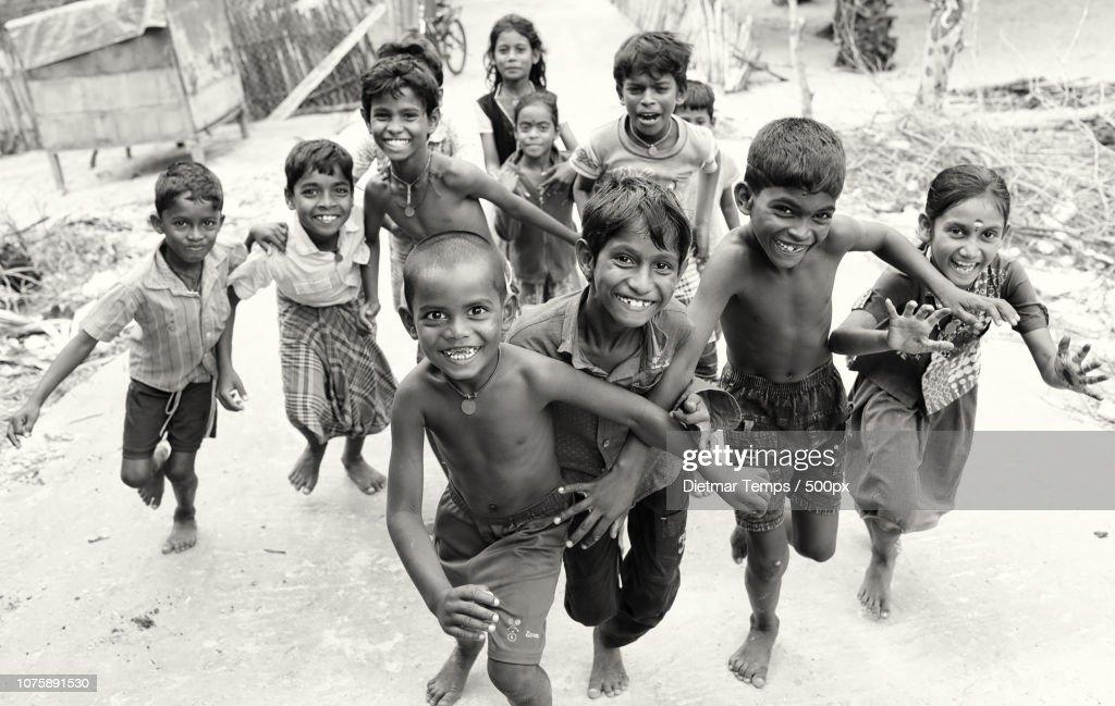 India, Kids having fun : Stock-Foto