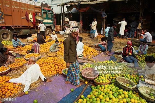 India, Kolkata, Calcutta, fruit market