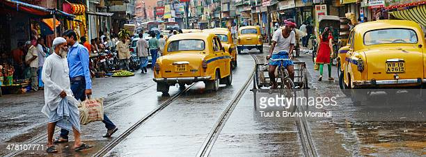 India, Kolkata, Calcutta, old city traffic