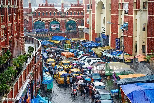 india, kolkata, chowringhee, around new market - south asia stock pictures, royalty-free photos & images