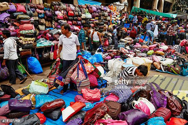 India, Kolkata, New Market, bag seller