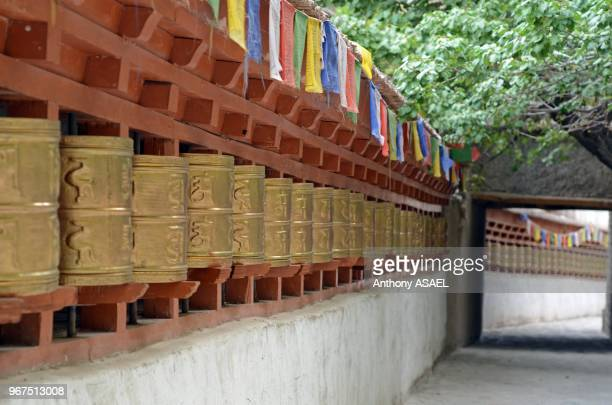 India Ladakh Alchi Buddhist prayer wheels