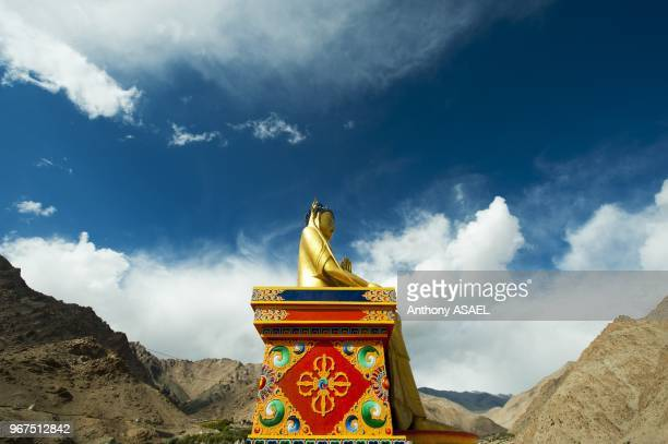 India Ladakh Likir golden buddha in Likir Monastery