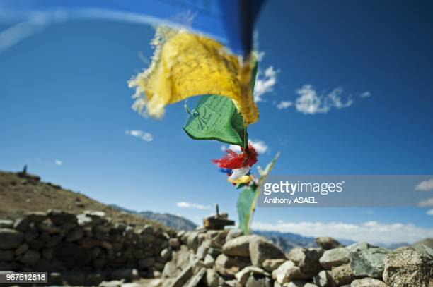India Ladakh Markha Valley buddhist prayer flags