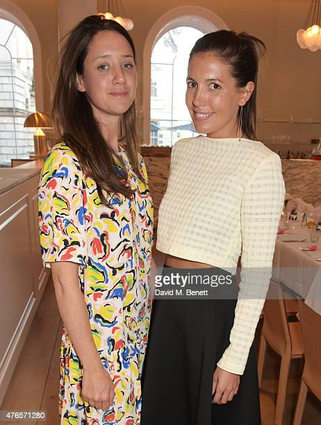 India Langton and Amanda Sheppard attend a private dinner in celebration of the Carolyn Murphy and cheekfrills collaboration at Spring at Somerset...