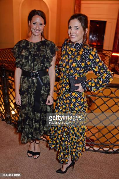 India Langton and Amanda Sheppard attend The 64th Evening Standard Theatre Awards at the Theatre Royal Drury Lane on November 18 2018 in London...