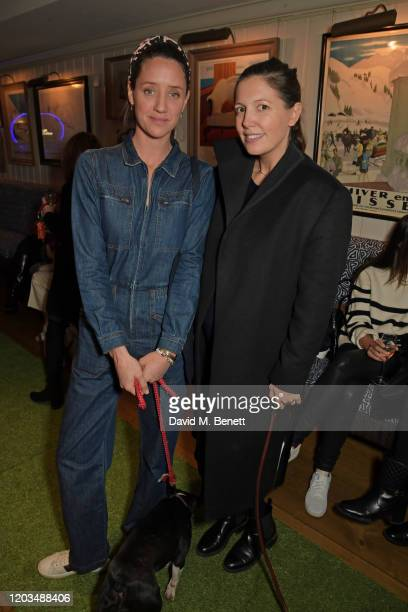 India Langton and Amanda Sheppard attend the launch of the George Charitable Dogs Committee at George Club on February 26 2020 in London England