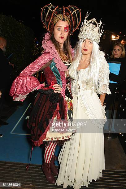 India Langton and Amanda Sheppard attend the Unicef UK Halloween Ball raising vital funds to support Unicef's lifesaving work for Syrian children in...