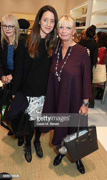 India Langton and Pandora Delevingne attend the launch of the Bamford South Audley store in Mayfair on September 16 2015 in London England