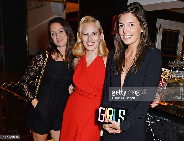 India Langton Charlotte Olympia Dellal and Amanda Sheppard attend the Charlotte Olympia 'Handbags for the Leading Lady' launch dinner at Toto's...