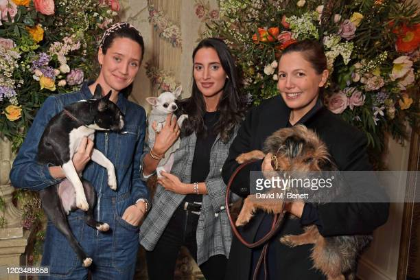 India Langton Lily Fortescue and Amanda Sheppard attend the launch of the George Charitable Dogs Committee at George Club on February 26 2020 in...