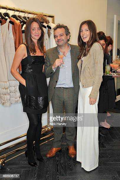 India Langton Mark Hix and Amanda Sheppard attend the opening of the new Amanda Wakeley store on January 30 2014 in London England