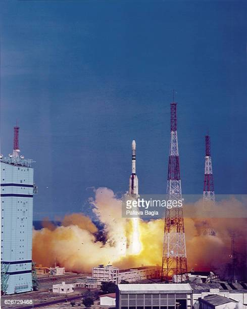 India launches its indigeneous new generation rocket called the GeoSynchronous Launch Vehicle from the Sriharikota rocket launching range The rocket...