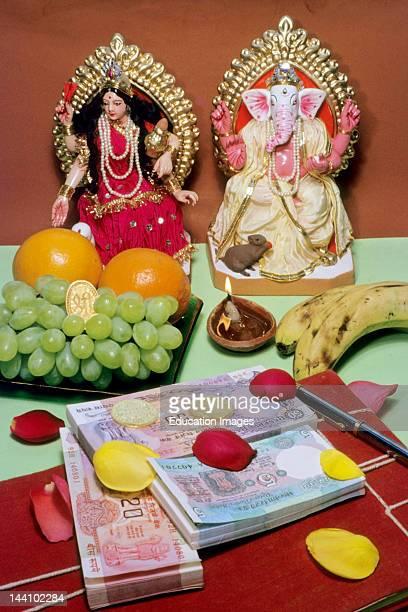 India Laxmi Ganesh Pooja For Diwali Festival