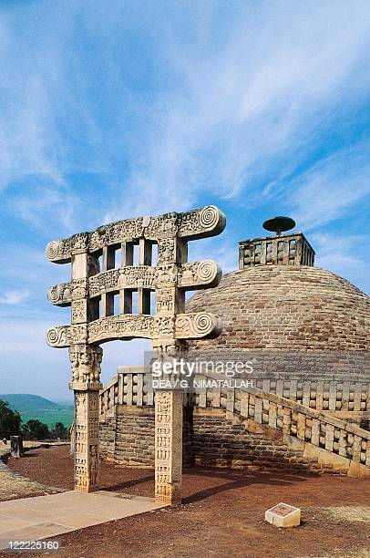 India Madhya Pradesh Buddhist Monuments at Sanchi Stupa 3 gateway