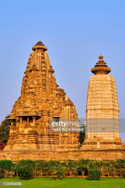 india, madhya pradesh state, khajuraho temple - khajuraho stock pictures, royalty-free photos & images