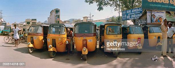 India, Madras, tri-whelled taxis known as tut-tuts