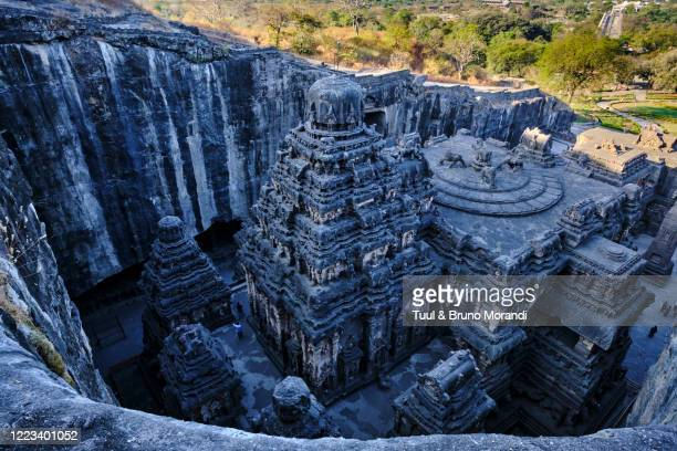 india, maharashtra, ellora cave temple - ellora stock pictures, royalty-free photos & images