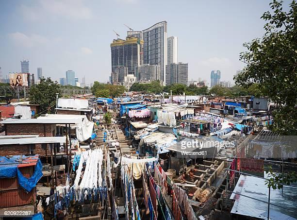 India, Maharashtra, Mumbai, Dhobi Ghat, laundry