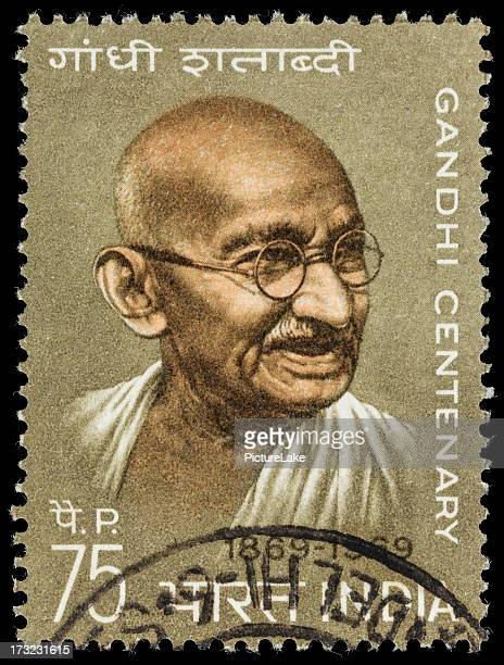 india mahatma gandhi centenary postage stamp - mahatma gandhi stock pictures, royalty-free photos & images