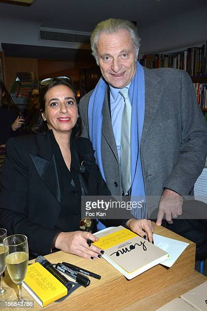 India Mahdavi and Alain Flammarion attend 'Home' India Madhavi and Soline Delos Book Launch at Musee Arts Decoratifs Bookshop on November 22 2012 in...