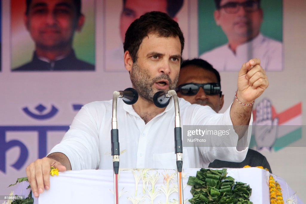 Rahul Gandhi at Kisan Akrosh Rally in Banswara