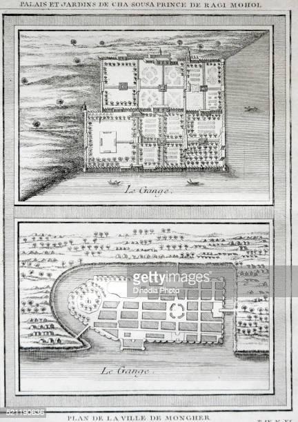 india map, palais et jardins de cha sousa prince de ragi mohol plan de la ville de mongher - humpback dolphin stock pictures, royalty-free photos & images