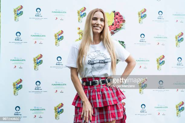 India Martinez attends photocall in Funambulista concert at Noches del Bótanico Festival on July 12 2018 in Madrid Spain