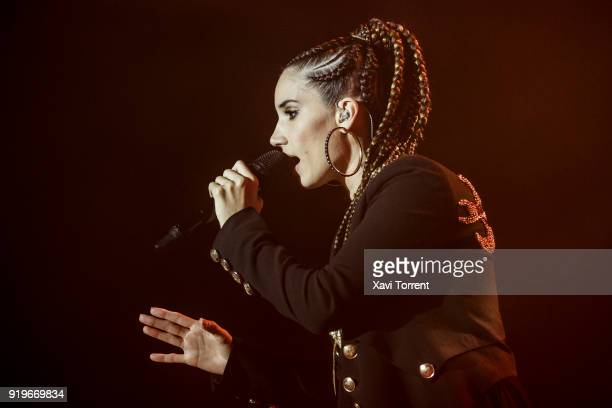 India Martinez performs in concert at Sant Jordi Club during Guitar BCN 2018 on February 17 2018 in Barcelona Spain