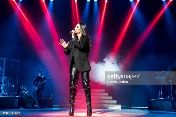 India Martínez performs in concert at Palacio de la Ópera on January 25 2020 in A Coruna Spain
