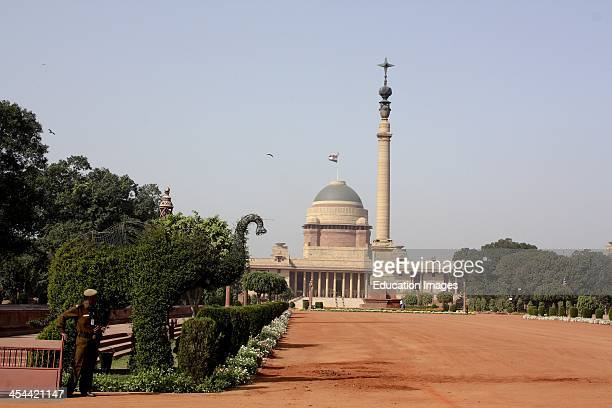 India New Delhi Rashtrapati Bhavan The Presidents Residence