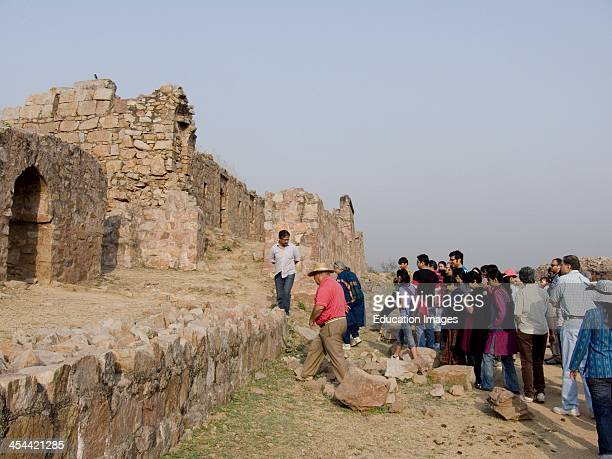 India New Delhi Tughlaqabad Fort Early 14Th Century Guided Heritage Walk In Early Morning