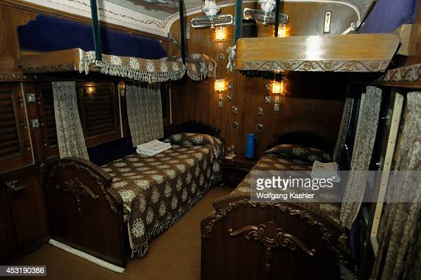 India Palace On Wheels Train Sleeper Compartment