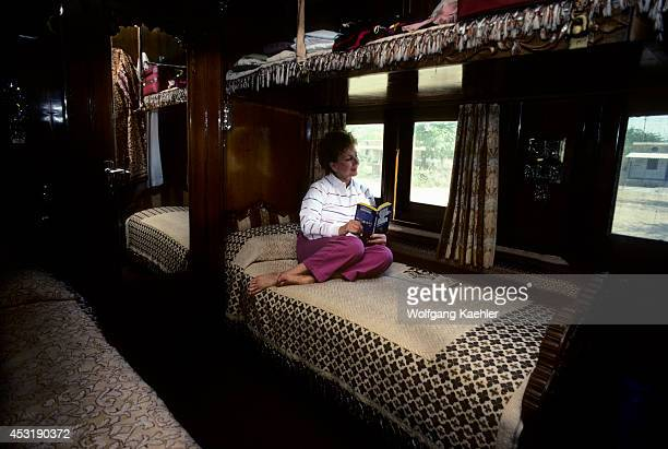 India Palace On Wheels Train Tourist In Compartment