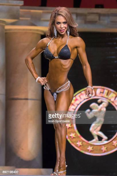 India Paulino competes in Bikini International as part of the Arnold Sports Festival on March 4 at the Greater Columbus Convention Center in Columbus...