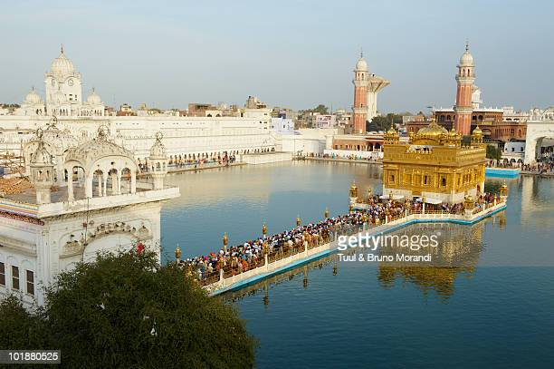 india, penjab, amritsar, golden temple - amritsar stock pictures, royalty-free photos & images