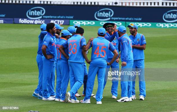 India players during the ICC Champions Trophy Warmup match between India and Bangladesh at The Oval in London on May 30 2017