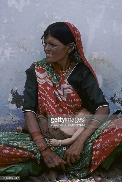 India Portrait of a woman from the Kholi tribe Ravechi Fair Gujarat