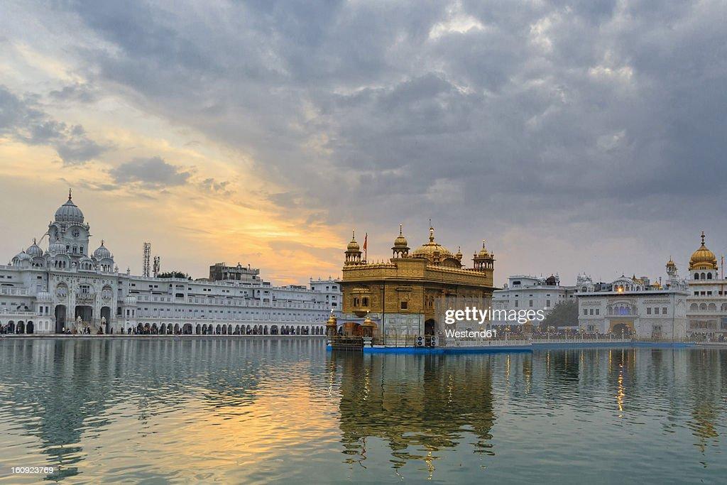 India, Punjab, Amritsar, View of Golden Temple : Stock Photo