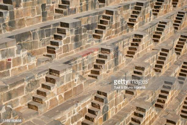 india, rajasthan, abhaneri, chand baori - abhaneri stock photos and pictures